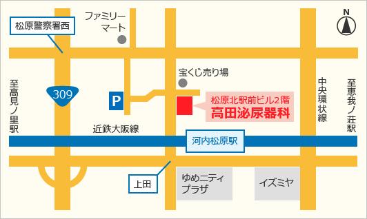高田泌尿器科地図